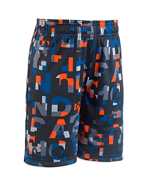 Under Armour Boys' Block-Letter Logo Shorts - Little Kid