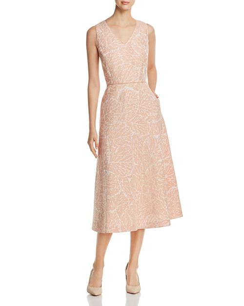 Lafayette 148 New York - Jayda Linen Jacquard Midi Dress
