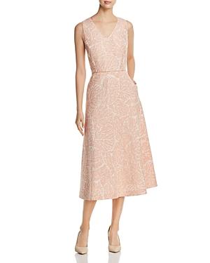 Lafayette 148 New York Jayda Linen Jacquard Midi Dress