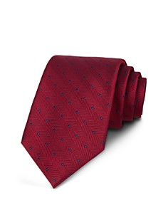 The Men's Store at Bloomingdale's Chevron Dot Classic Tie - 100% Exclusive_0