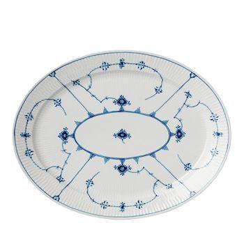 Royal Copenhagen - Blue Plain Oval Platter