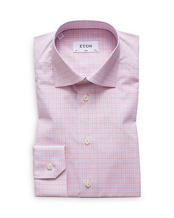 Eton - Multi Check Slim Fit Dress Shirt