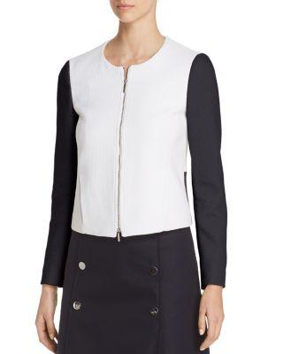 $BOSS Koralie Color Block Zip Jacket - Bloomingdale's