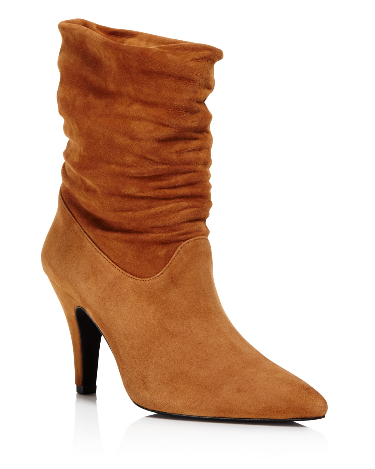 ANINE BING Women's Presley Suede Slouchy Mid Calf Booties kn0rx