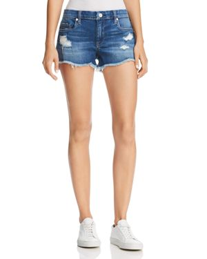 Blanknyc Distressed Denim Shorts in Push Play