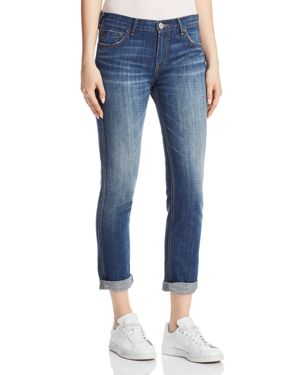 Cameron Caballo Flap Boyfriend Jeans In Vintage Hard Press in Blue