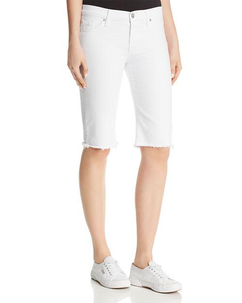 Hudson - Amelia Denim Bermuda Shorts in Optical White