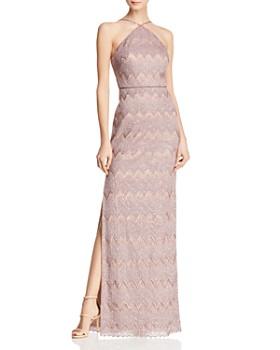 Aidan Mattox - Embellished Metallic Gown