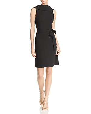 Adrianna Papell Roll-Neck Crepe Dress