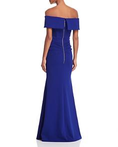 AQUA - Off-the-Shoulder Scuba Crepe Gown - 100% Exclusive