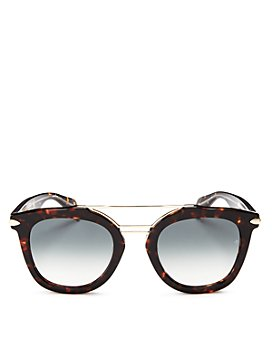 rag & bone - Women's Brow Bar Round Sunglasses, 50mm