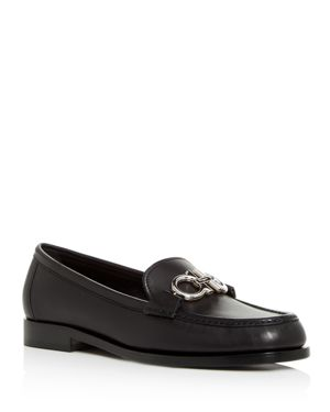 Women'S Rolo Reversible Gancini Leather Loafers, Black