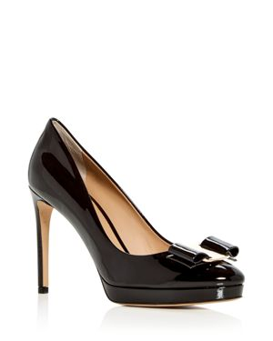 Women'S Osimo Patent Leather High-Heel Platform Pumps in Nero