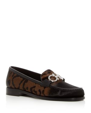 WOMEN'S ROLO REVERSIBLE GANCINI LEOPARD PRINT CALF HAIR LOAFERS