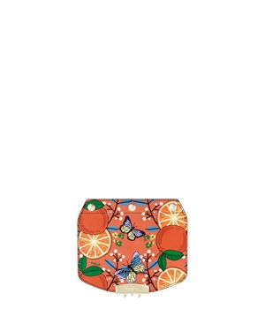 Furla My Play Interchangeable Metropolis Mini Orange Print Leather Flap 2867643