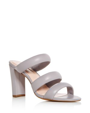 AVEC LES FILLES Women'S Mara Leather High-Heel Slide Sandals in Dusty Lilac Leather
