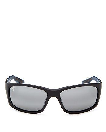 e6ce180709 Maui Jim - Men s Kanaio Coast Polarized Mirrored Wrap Sunglasses
