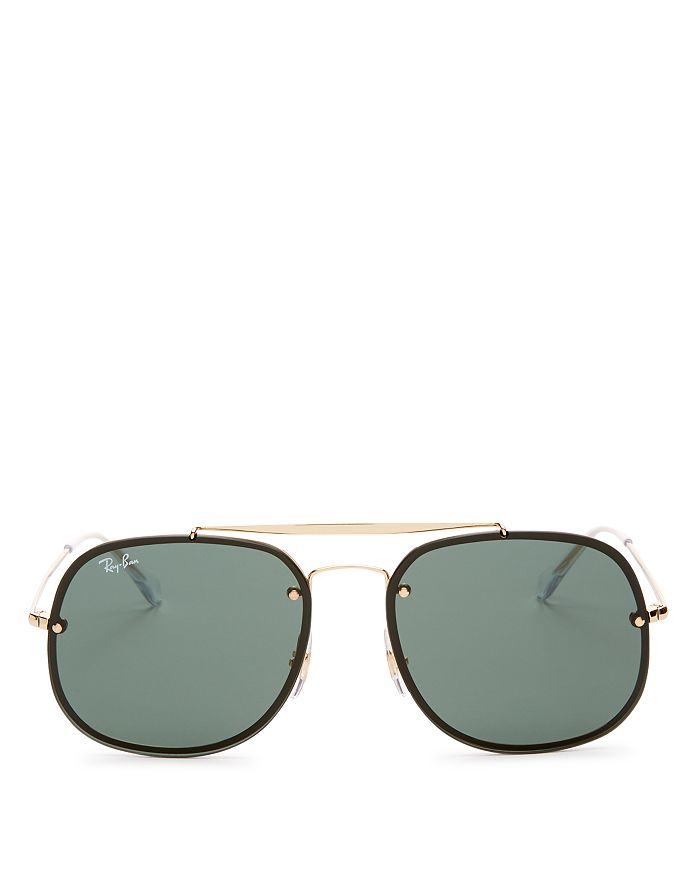 aeb8dc4e6d Ray-Ban Unisex Blaze General Brow Bar Square Aviator Sunglasses ...