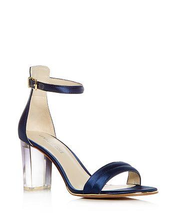 Kenneth Cole - Women's Lex Satin High Block Heel Sandals
