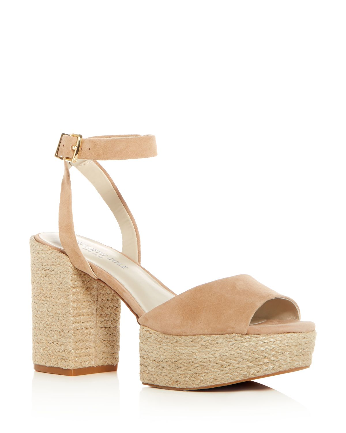 Kenneth Cole Suede Crossover Platform Sandals