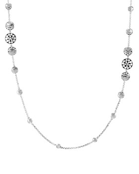 John Hardy - Sterling Silver Dot Hammered Moon Station Necklace, 36""