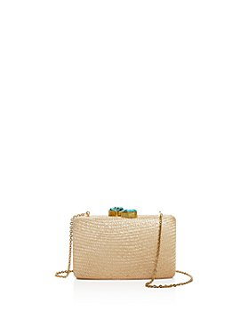 KAYU - Jen Stone Closure Woven Convertible Clutch