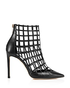 Jimmy Choo - Women's Sheldon 100 Caged Leather High-Heel Booties