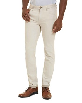 Robert Graham - Gonzales Straight Fit Jeans in Off-White