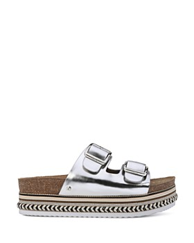 Sam Edelman - Women's Oakley Leather Platform Slide Sandals