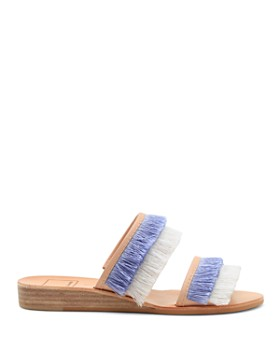 Dolce Vita - Women's Haya Fringe Two Band Demi Wedge Slide Sandals