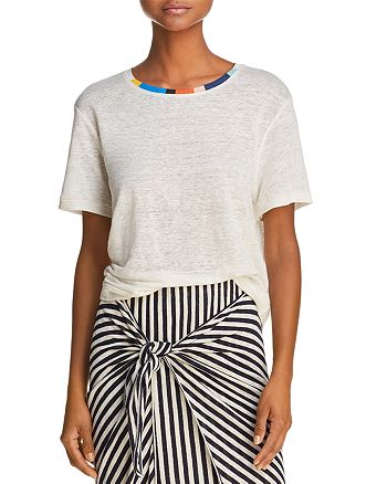 Splendid - x Margherita Color-Block Trim Tee