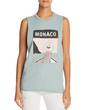 MICHELLE BY COMUNE MONACO GRAPHIC MUSCLE TANK - 100% EXCLUSIVE