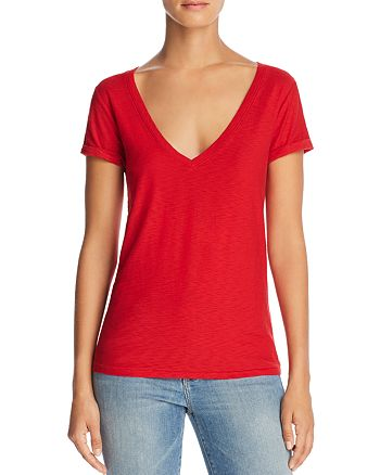 682a3fbe46ac Nation LTD New Deep V-Neck Tee | Bloomingdale's