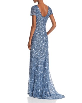 b2f821053cb ... Adrianna Papell - Sequined Scoop-Back Gown