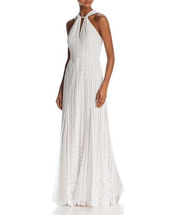 BCBGMAXAZRIA - Sleeveless Lace Gown