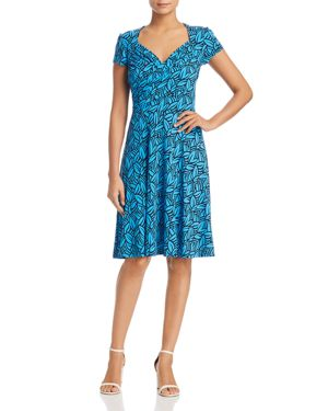 LEOTA Print Jersey Fit & Flare Dress in Forge Blithe