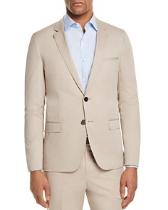HUGO - Solid Cotton Slim Fit Suit Separate Sport Coat