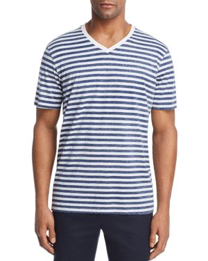 STRIPED LOUNGE V-NECK TEE