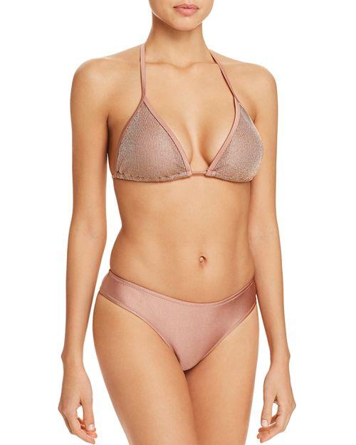 Sam Edelman - Venice Beach String Tie Triangle Bikini Top & Cheeky Hipster Bikini Bottom