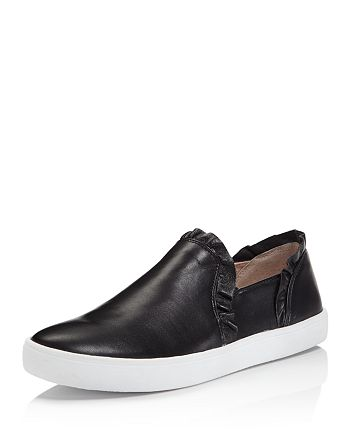 8a3e929ec7fa kate spade new york - Women s Lilly Ruffle-Trim Leather Slip-On Sneakers