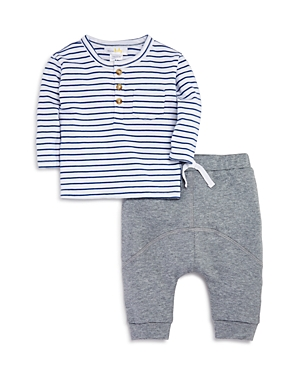Bloomies Boys Striped Tee  Jogger Pants Set Baby  100 Exclusive