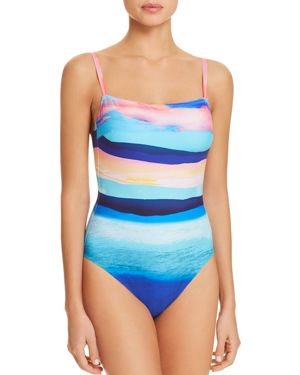 Gottex Seascape Square Neck One Piece Swimsuit