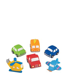Elegant Baby - Zoom Zoom Party Bath Toys, Set of 6 - Ages 6 Months+