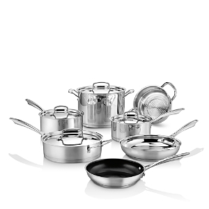 Cuisinart Professional Series Stainless Steel 11-Piece Cookware Set