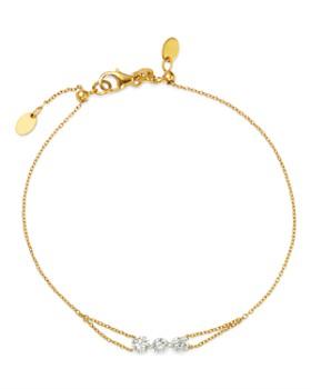 AeroDiamonds - 18K Yellow Gold Trio Diamond Bracelet