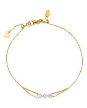 AERODIAMONDS 18K YELLOW GOLD TRIO DIAMOND BRACELET
