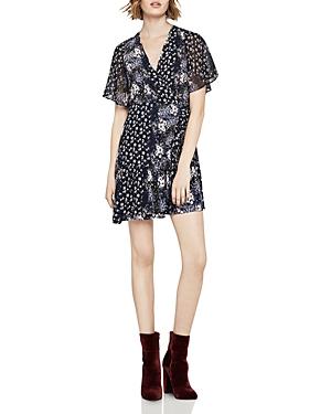 BCBGeneration Mixed Floral Faux-Wrap Dress