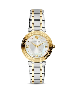 Versace Daphnis Greca Engraved Two-Tone Watch, 35mm