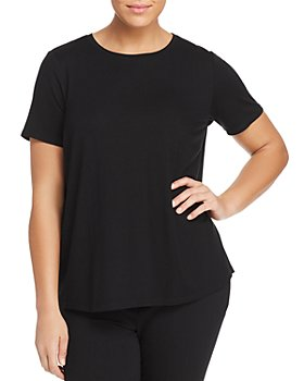 Eileen Fisher Plus - Short-Sleeve Crewneck Tee