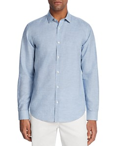 Theory Murrary Micro Gingham Regular Fit Button-Down Shirt - Bloomingdale's_0